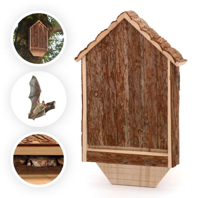 Wooden Bat House Shelter