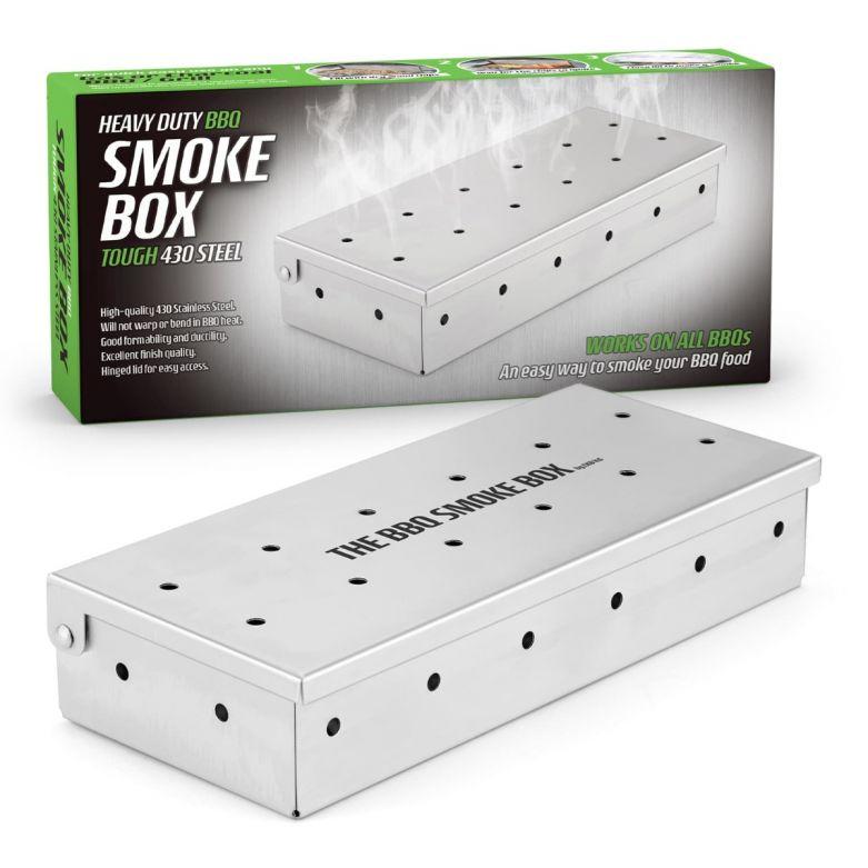 Bar Amigos Heavy Duty Steel BBQ Wood Chip Smoke Box