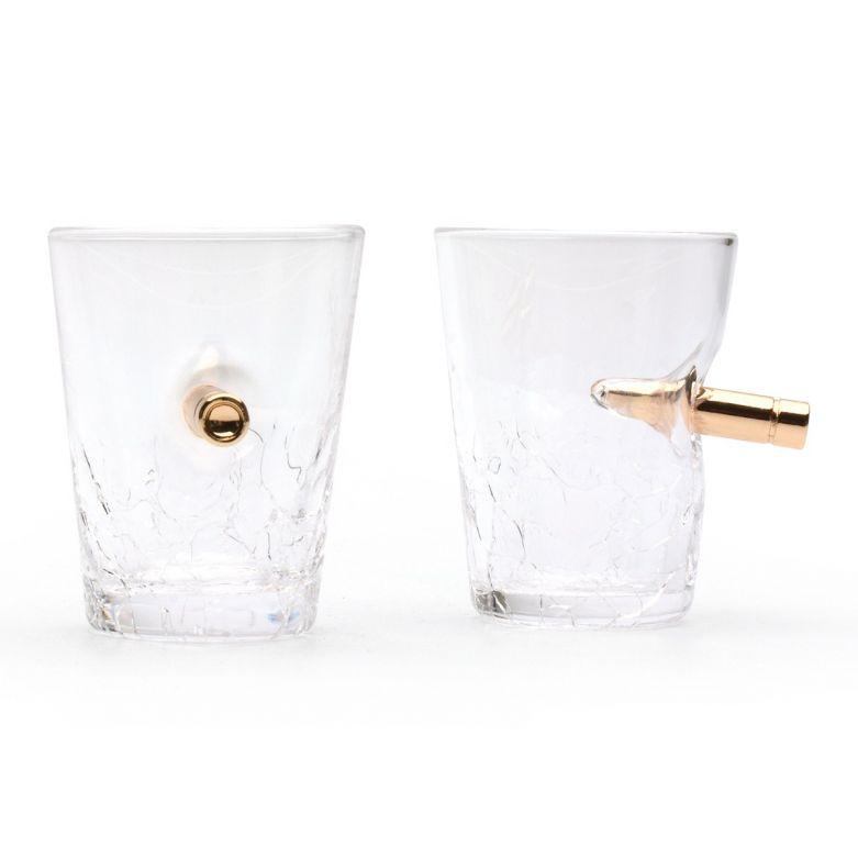 Bar Bespoke Bullet Crack Shots 60ml Shot Glasses (Set of 2)