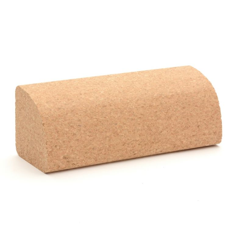 Zen Yoga Wedge Quarter Round Cork Block (23cm)