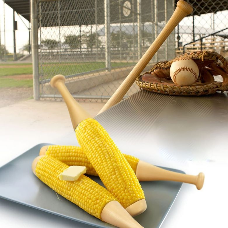 Baseball Bat Corn on the Cob Holders (Set of 2)