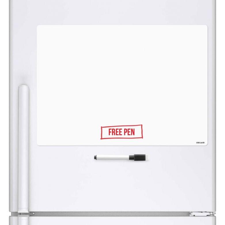 Blank Memo Whiteboard & Dry Wipe Pen (A3 Magnetic Fridge Board)