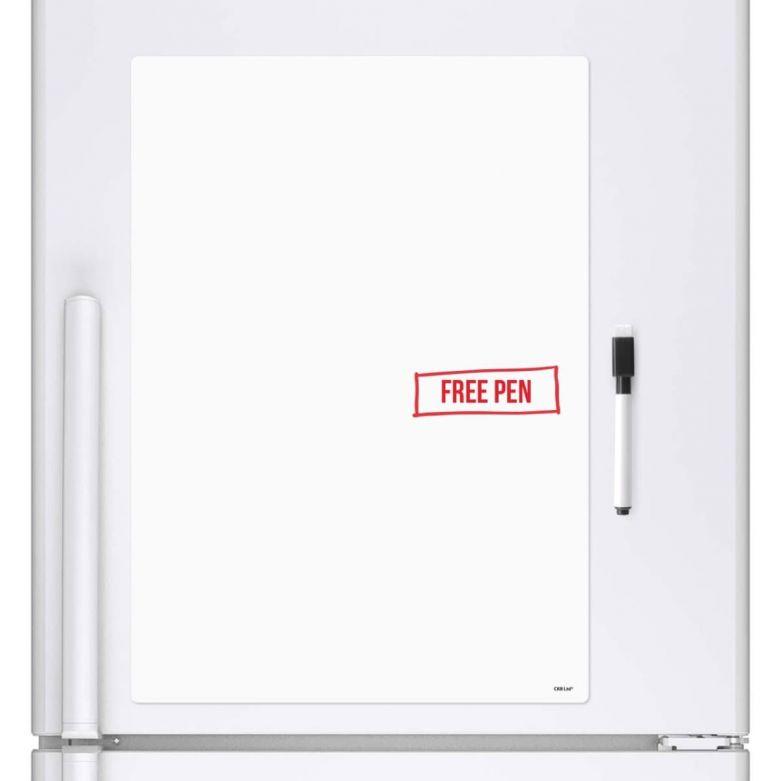Blank Memo Whiteboard & Dry Wipe Pen (A4 Magnetic Fridge Board)