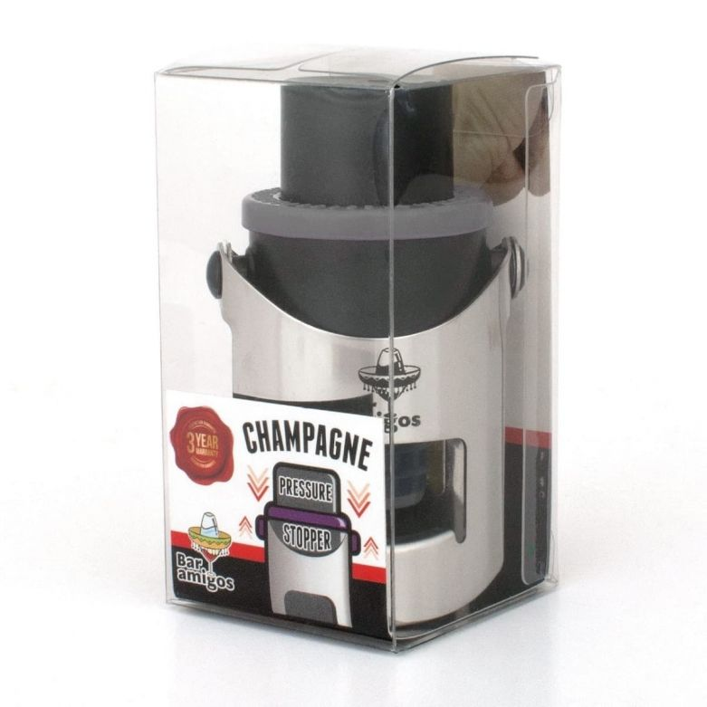 Bar Amigos Champagne Pressure Stopper (Grey)