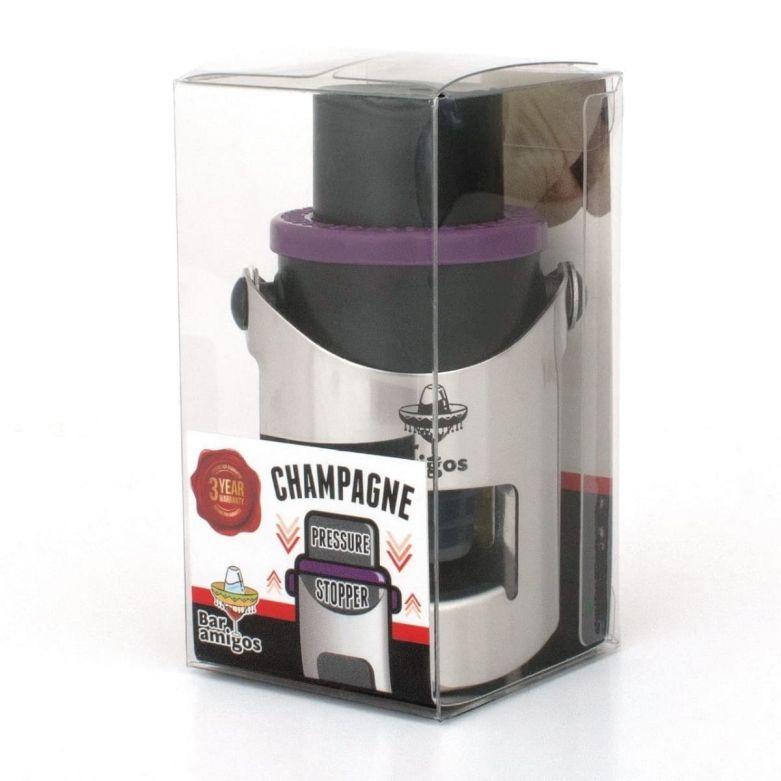 Bar Amigos Champagne Pressure Stopper (Purple)