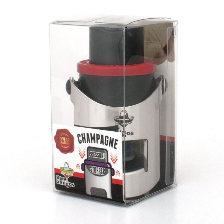 Bar Amigos Champagne Pressure Stopper (Red)