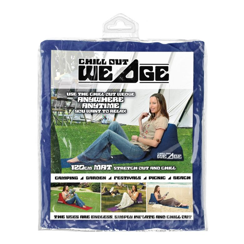 Blue Inflatable Chill Out Wedge Packaging