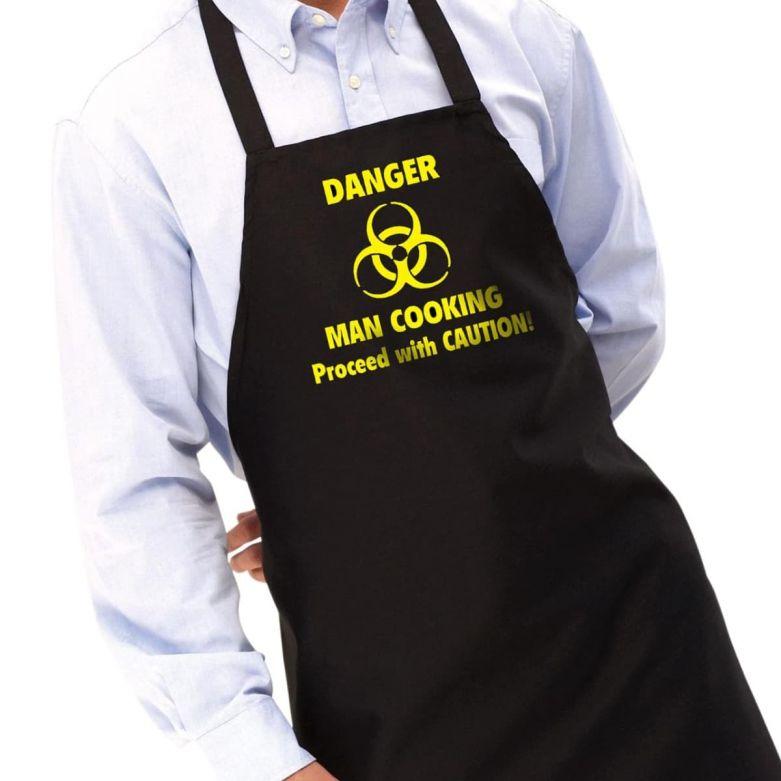 Danger Man Cooking Apron & Hat