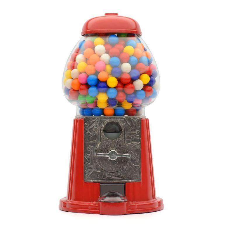 Retro Coin Operated Gumball Machine Sweet Dispenser