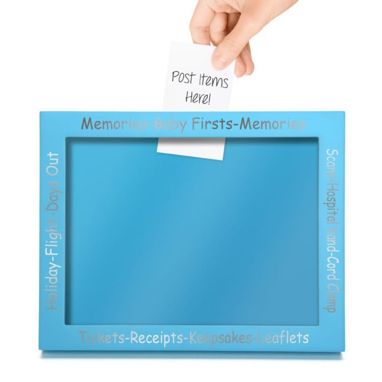 Memory & Keepsake Picture Display Frame (Blue)