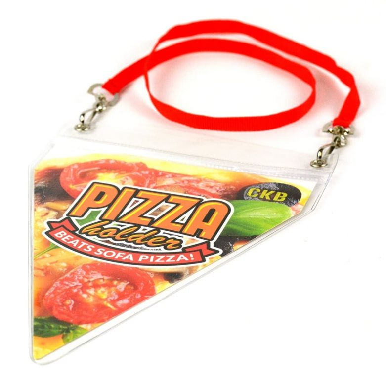 Novelty Pizza Pouch & Lanyard