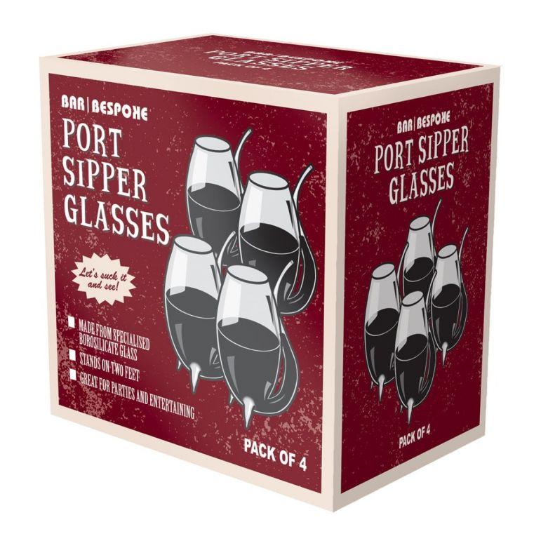 Bar Bespoke Port Sipper Glasses Set (Pack of 4)