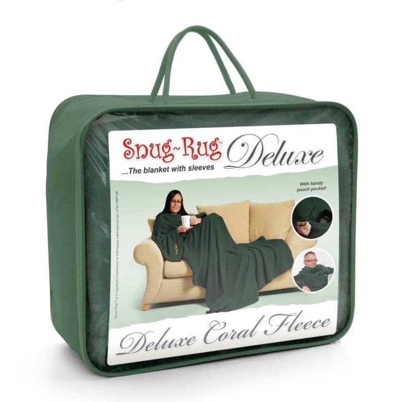 Snug-Rug Deluxe Blanket with Sleeves (Racing Green)