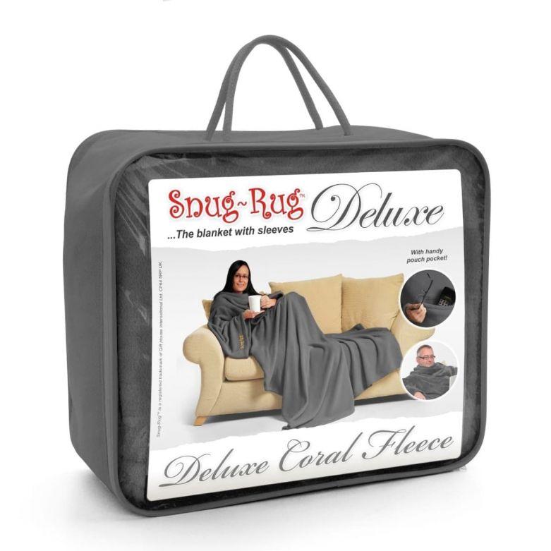 Snug-Rug Deluxe Blanket with Sleeves (Slate Grey)