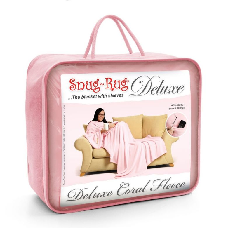 Snug-Rug DELUXE Blanket with Sleeves (Pink Quartz)