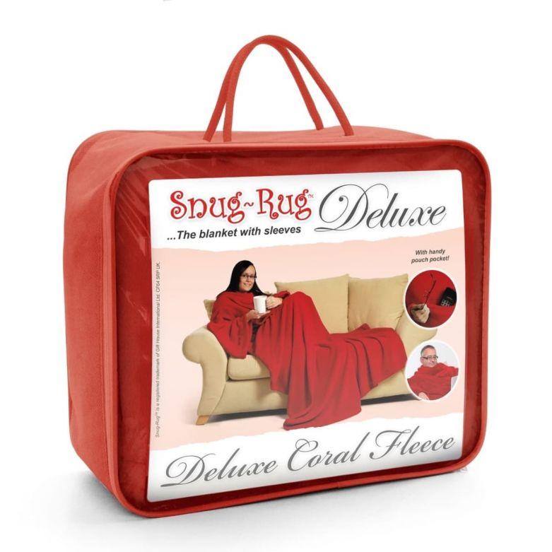 Snug-Rug Deluxe Blanket with Sleeves (Red)
