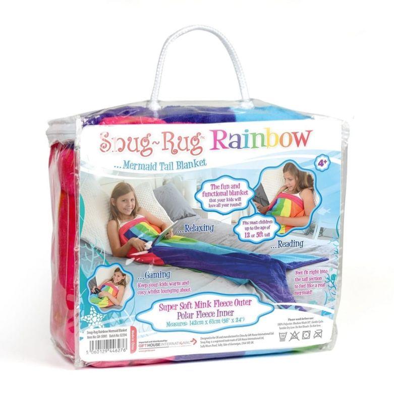 Snug-Rug Rainbow Mermaid Tail Blanket
