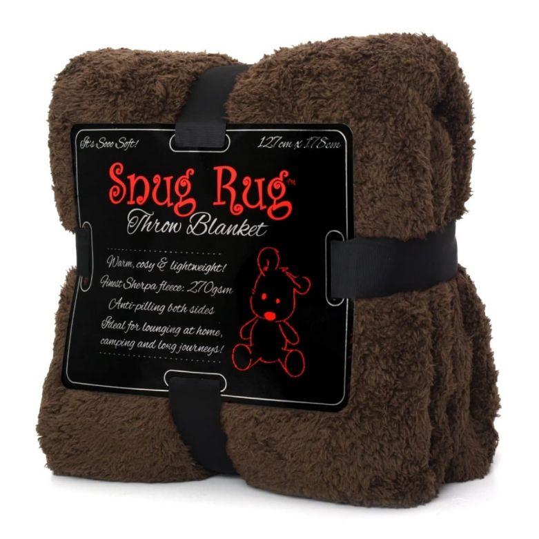 Snug-Rug Sherpa Throw Blanket (Chocolate)