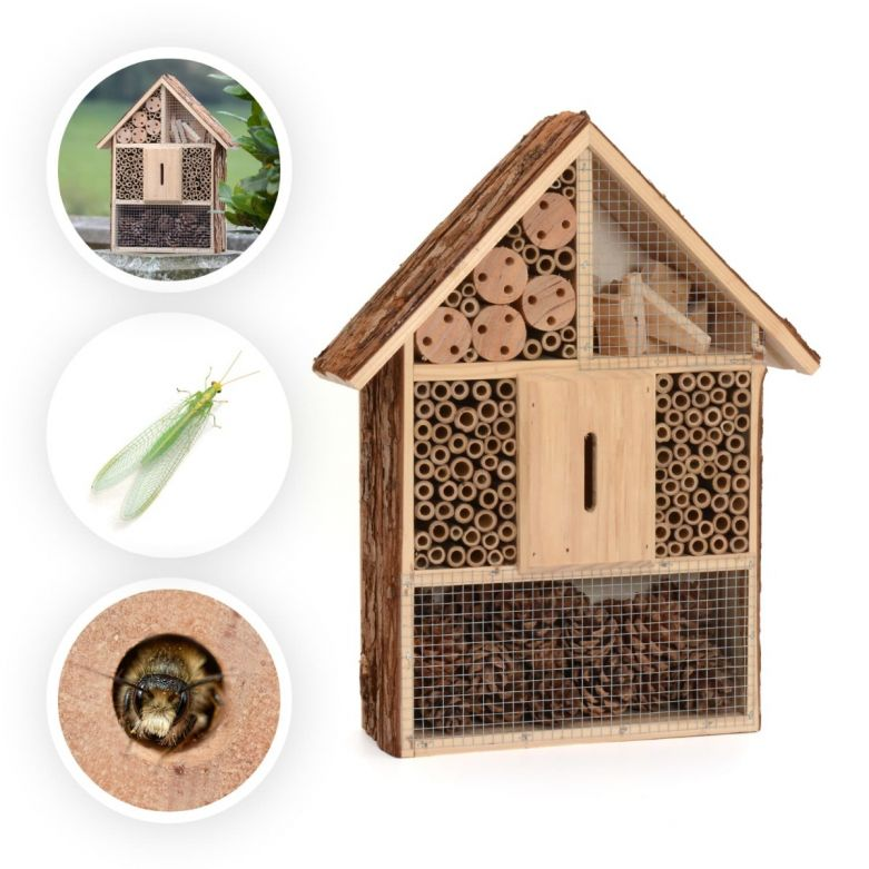 Natural Wood Bark Insect Bug Bee Hotel (Large)