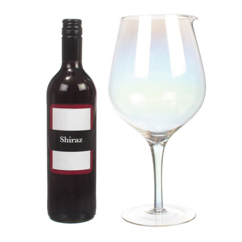 Jumbo Wine Glass Decanter XL (1.8 Litre) Lustre Finish