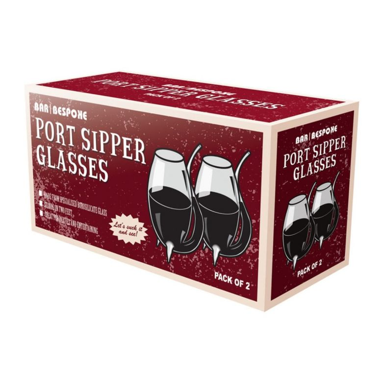 Pack of 2 Bar Bespoke Port Sipper Glasses Set