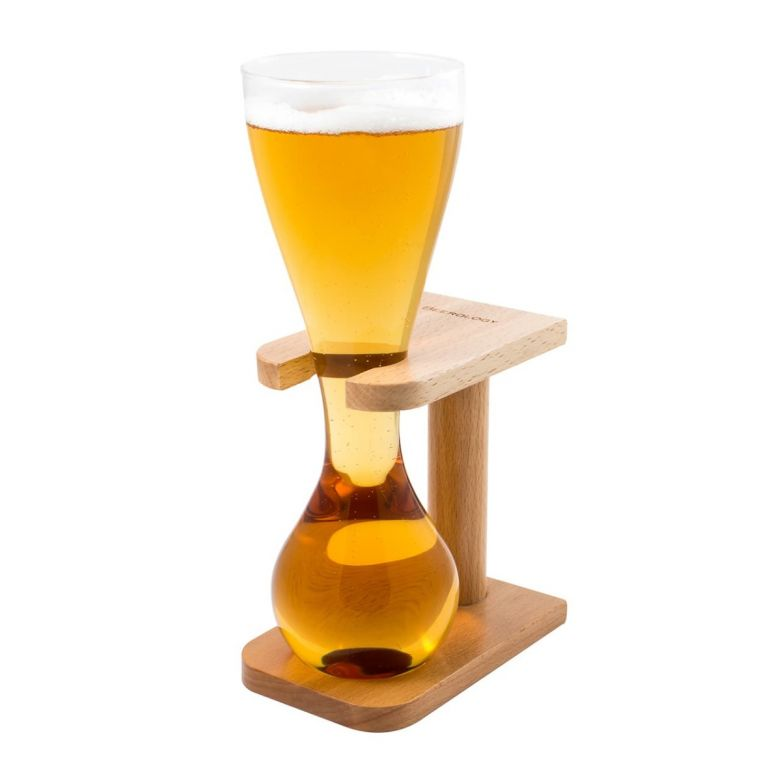 Quarter Yard Glass with Smart Birch Wood Stand (1.4 Litre)