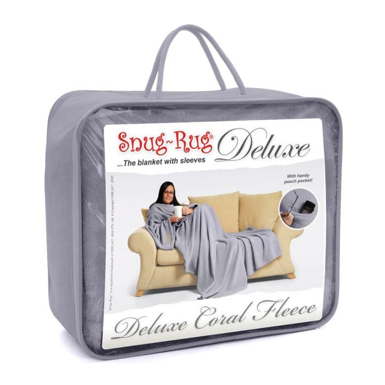 Lilac Grey Snug-Rug DELUXE Blanket with Sleeves