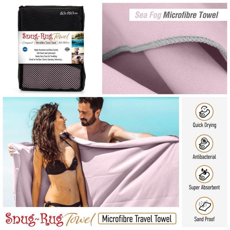 Snug-Rug Microfibre Towel (Large) (Sea Fog Mauve)