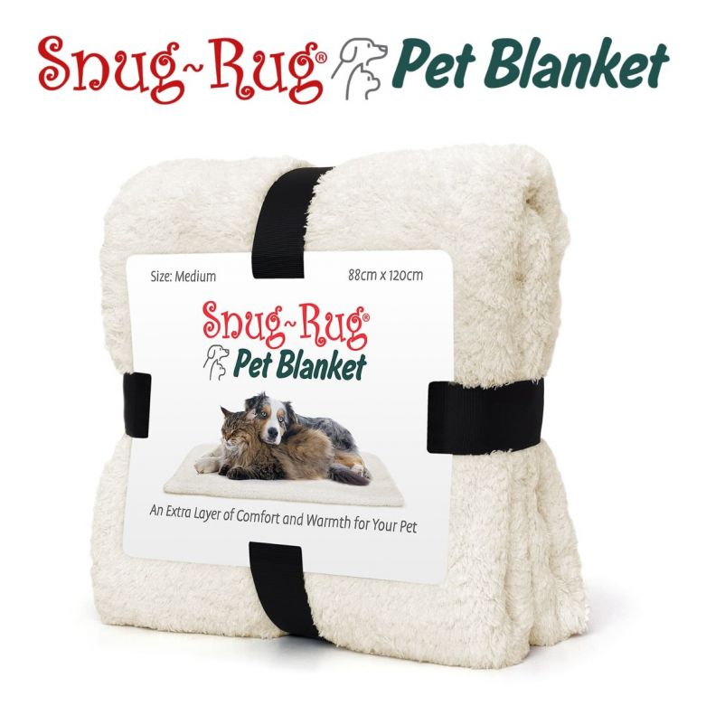 Snug-Rug Pet Blanket 120 x 88cm (Medium) Cream
