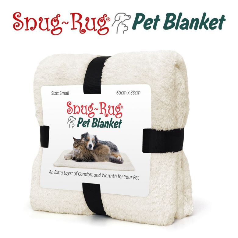 Snug-Rug Pet Blanket 88 x 60cm (Small) Cream