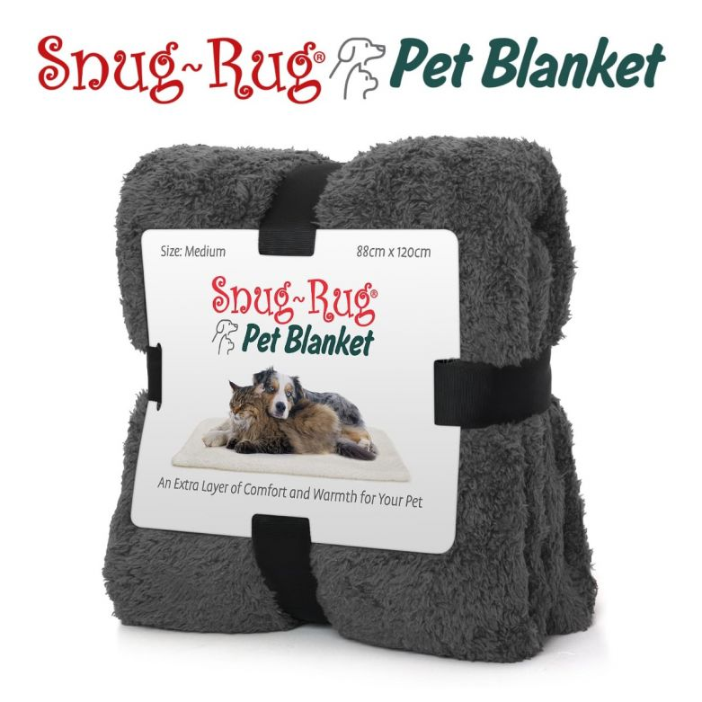 Snug-Rug Pet Blanket 120 x 88cm (Medium) Slate Grey