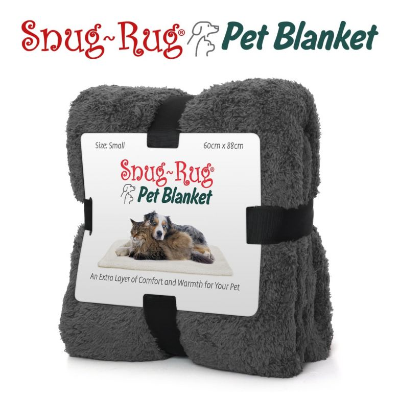 Snug-Rug Pet Blanket 88 x 60cm (Small) Slate Grey