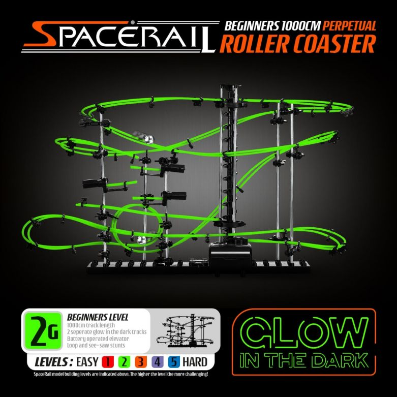 SpaceRail Roller Coaster Level 2G (Glow in the Dark)