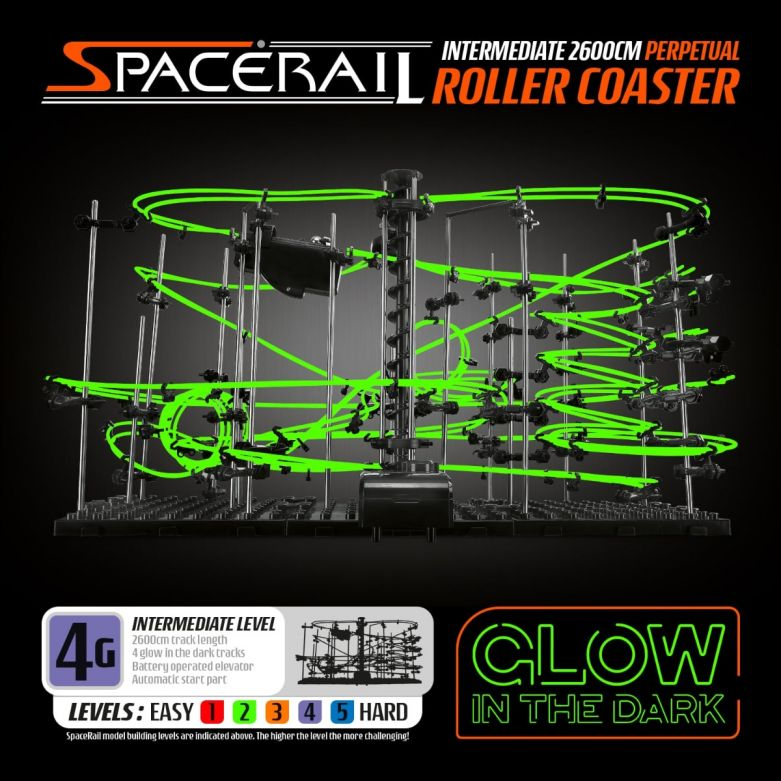 SpaceRail Roller Coaster Level 4G (Glow in the Dark)
