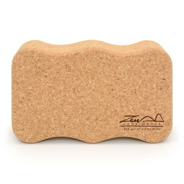 Zen Yoga Wedge™ Cork Block/Brick (Onda)
