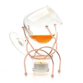 Bar Amigos Brandy Warmer Set (400ml Snifter with Copper Stand)