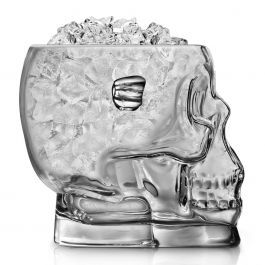 Final Touch Glass Skull Bucket Filled with Ice