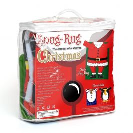 Snug-Rug Christmas Blanket with Sleeves (Santa)