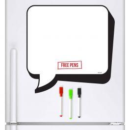Cartoon Speech Bubble Whiteboard & Dry Wipe Pens (Magnetic Fridge Board)