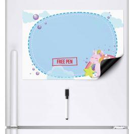 Unicorn Memo Whiteboard & Dry Wipe Pen (A3 Magnetic Fridge Board)