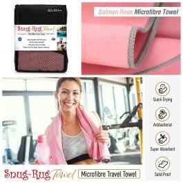 Snug-Rug Microfibre Towel (Large) (Salmon Rose Pink)