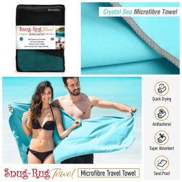 Snug-Rug Microfibre Towel (X-Large) (Crystal Sea Blue)