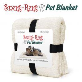 Snug-Rug Pet Blanket 120 x 88cm (Medium) Cream