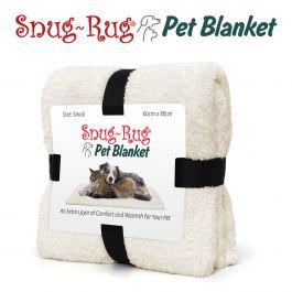 Snug-Rug Pet Blanket 88 x 60cm (Small) Cream